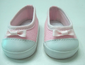 "18"" Doll Pink Canvas Slip Ons"
