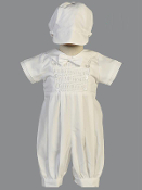 Smocked Cotton Romper-Alexander