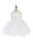 Infant Glitter Bodice Dress with Organza Skirt