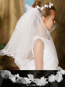 Organza Flower Crown w/ Veil