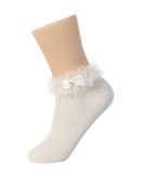 Satin Trimmed Socks