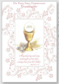 GREETING CARD - Granddaughter Communion