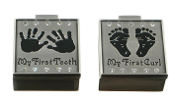 Pewter Hands and Feet First Tooth and Curl Set