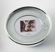 2x2 Oval Silver Trinket Box Frame Guardian Angel