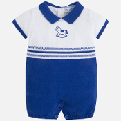 Mayoral Baby boy knit onesie with jacquard
