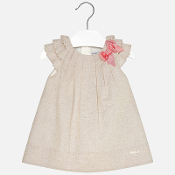 Mayoral Baby girl short sleeve dress with bow