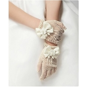 Ivory Net Gloves