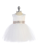 Infant Satin/Tulle Dress