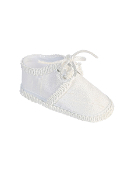 Infant Boy's Silk Crib Shoes