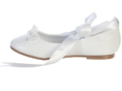 "Ballerina style flats with satin ribbon ""Rose"""