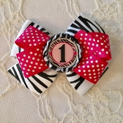 1 Birthday Bow Hair Clip