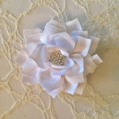 White Star Flower Hair Clip