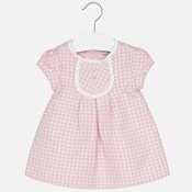 Mayoral Baby girl jacquard short sleeve dress