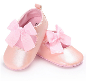 Blush Slip On Baby Shoe w/Bow