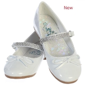 "Sweapea ""Summer"" Low Heel Shoe w/Rhinestone Strap"