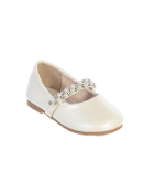 Infant Shoes with Pearl Rhinestone Strap