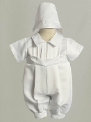 Infant Boys Christening Romper Set