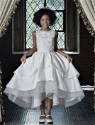 Maci's Design Satin and Tulle High Low Dress
