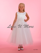 Maci's Princess White Satin and Tulle Dress