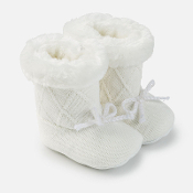 Mayoral Baby Knitted Fur Boots