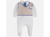 Mayoral Baby Knitted Vest Romper Suite