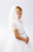 Girls Veil with Rhinestones