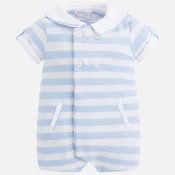 Mayoral Baby boy Striped Jacquard Romper