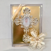 Personalized Rhinestone Cross Wall Frame Bomboniere