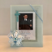 4x6 White Glass Frame Personalized Bomboniere