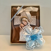 Madonna & Child Cross Ornament
