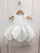 Princess Daliana Jaquard Tulle Underlay Infant Dress