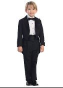 Boys Peak Collar Tuxedo Set