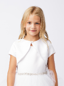 Satin Bolero with Pearls,Communion,Communion Dress,First Holy Communion,First Holy Communion Dress,First Holy COmmunion Suit,Communion Suit Mississauga,Communion Dress Mississauga,Communion