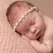 Thin Headband w/Pearls/Rhinestones