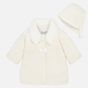 Mayoral Baby girl Knit Coat and Bonnet