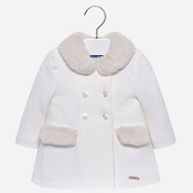 Mayoral Baby girl Coat with faux fur applique