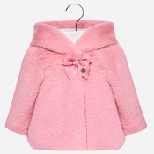 Mayoral Baby girl Faux Fur Coat with Hood