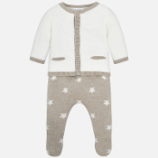 Mayoral Baby boy Knit dungaree set