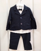 EMC 4pc Dress Shirt w/Tie/Navy Flannel Pants and Jacket