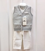 EMC 2pc Knit Vest/Ivory Pant Set