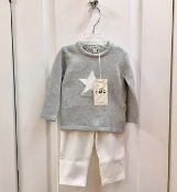 EMC 2pc Knit Sweater w/Star/Ivory Pant Set