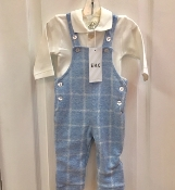EMC 2pc Flannel Overalls/Polo Onesie