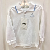 EMC White Long Sleeve Polo