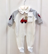 EMC Velour Footie w/Bear/Car Applique