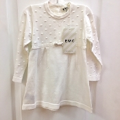 EMC Ivory Knit Sweater Dress w/Sparkle Bow