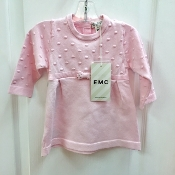 EMC Pink Knit Sweater Dress w/Sparkle Bow