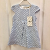 EMC Blue/Silver Jaquard Dress w/Cap Sleeves