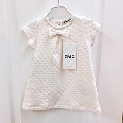 EMC Ivory Knit Dress w/Bow