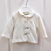 EMC Ivory Velour Jacket w/Rhinestone Heart Applique