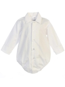 Boy's White Long Sleeve Onesie